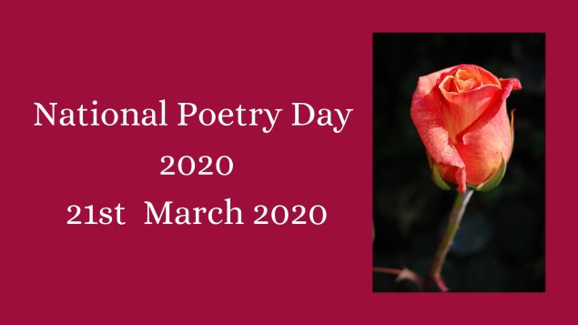 National Poetry Day 2020 21st March 2020